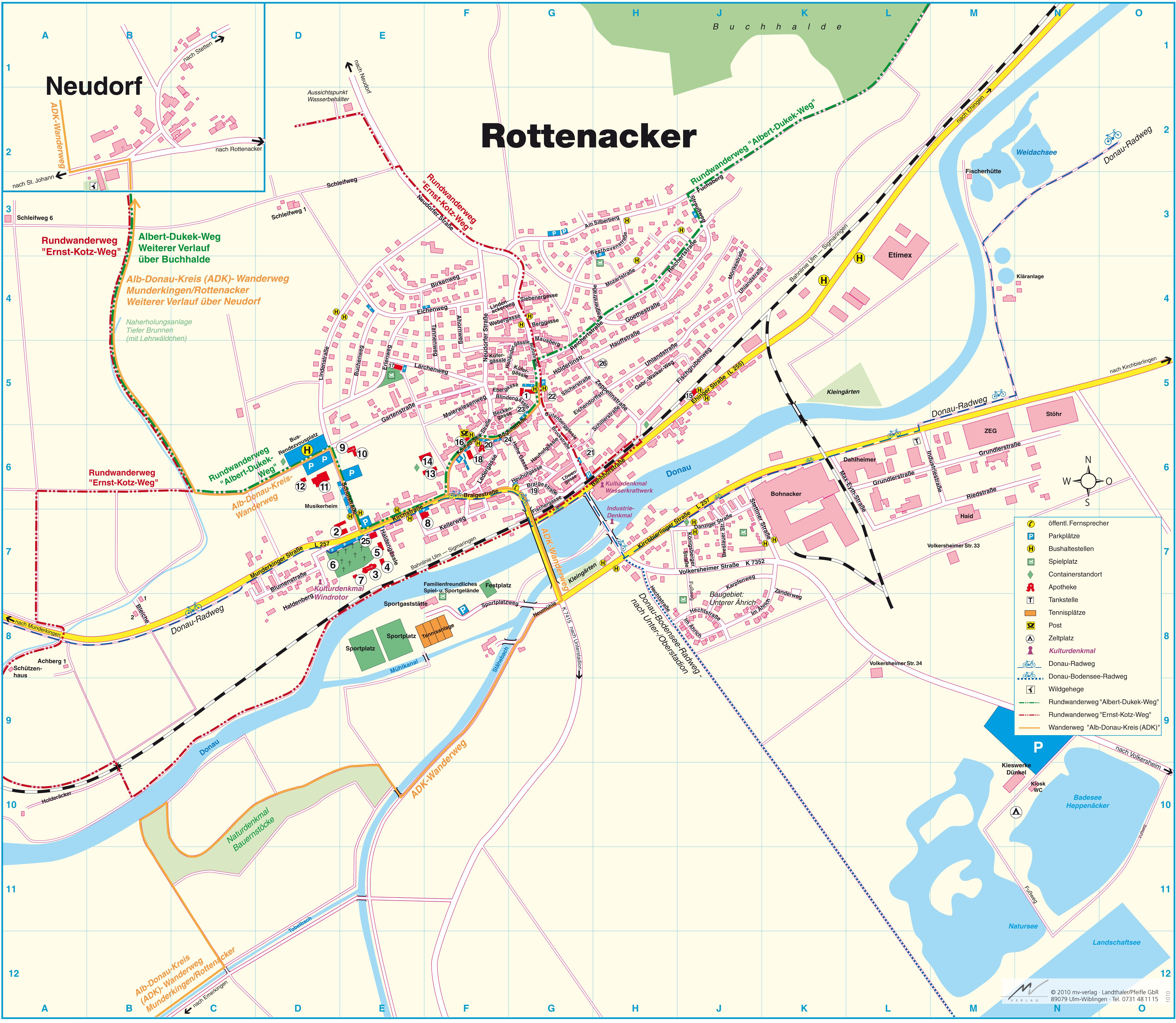 Ortsplan Internetseite Der Gemeinde Rottenacker